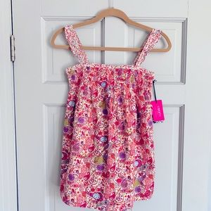 NWT Liberty of London for Target woven smocked top